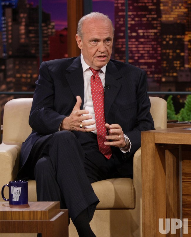 """FRED THOMPSON ANNOUNCES CANDIDACY ON """"TONIGHT SHOW WITH JAY LENO IN BURBANK, CALIFORNIA"""