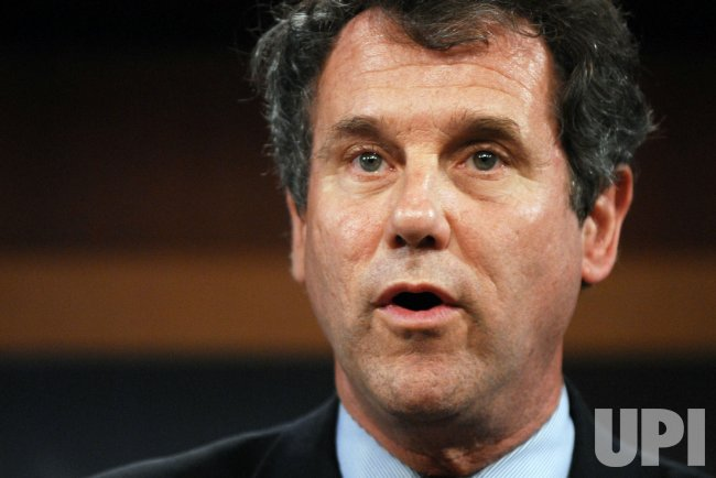 Sen. Sherrod Brown calls on Republicans to support health care reform on Capitol Hill in Washington