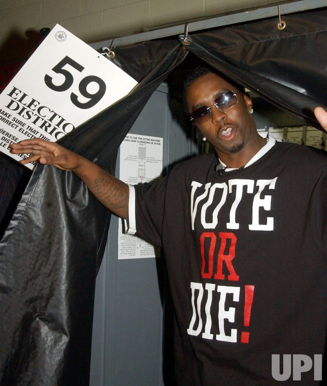 "SEAN COMBS VOTES AS PART OF HIS ""VOTE OR DIE"" NATIONAL CAMPAIGN"