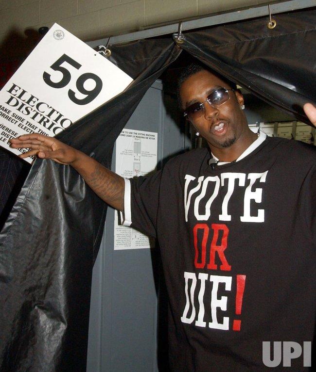 "SEAN COMBS VOTES AS PART OF HIS ""VOTE OR DIE"" NATIONAL CAMPAIGN"