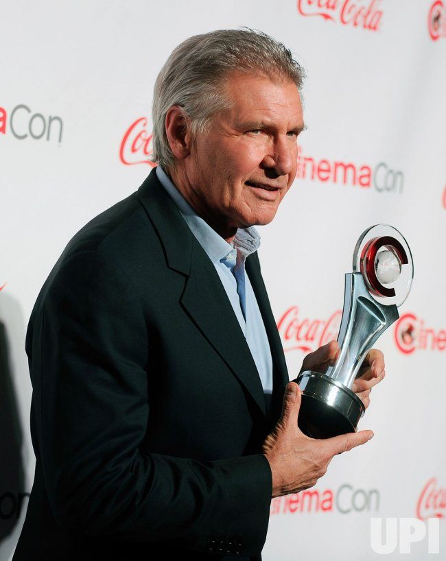 Harrison Ford arrives at the 2013 CinemaCon Awards Ceremony in Las Vegas
