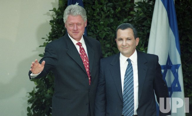 U.S. President Bill Clinton meets with Israeli Prime Minister Ehud Barak in Washington