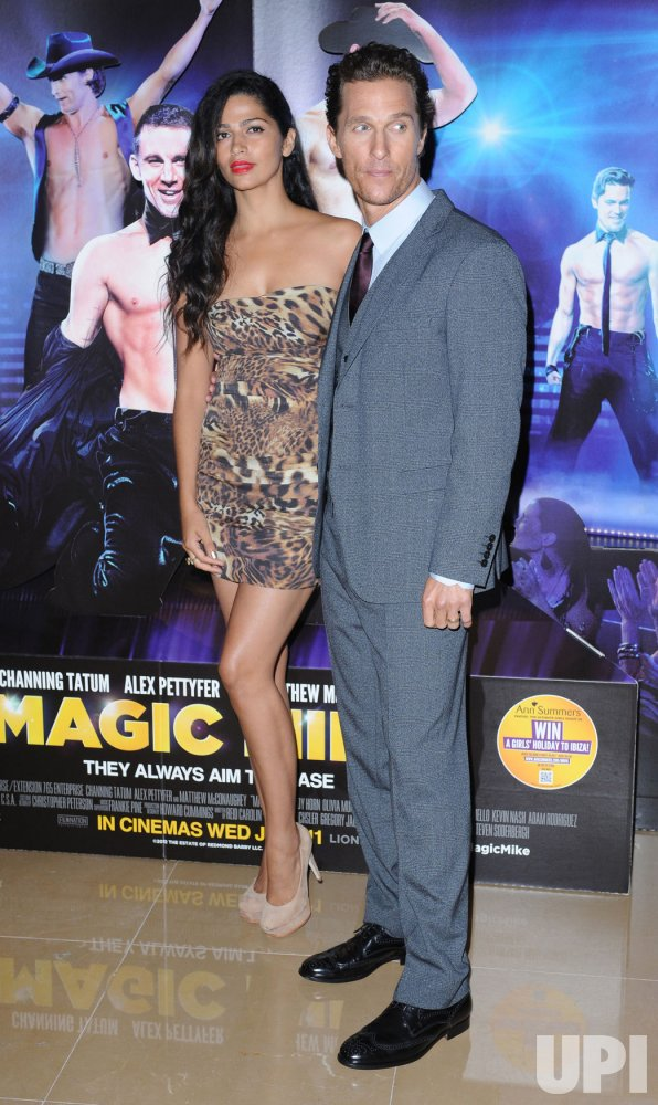 """Matthew McConaughey and Camila Alves attend the European premiere of """"Magic Mike"""" in London"""
