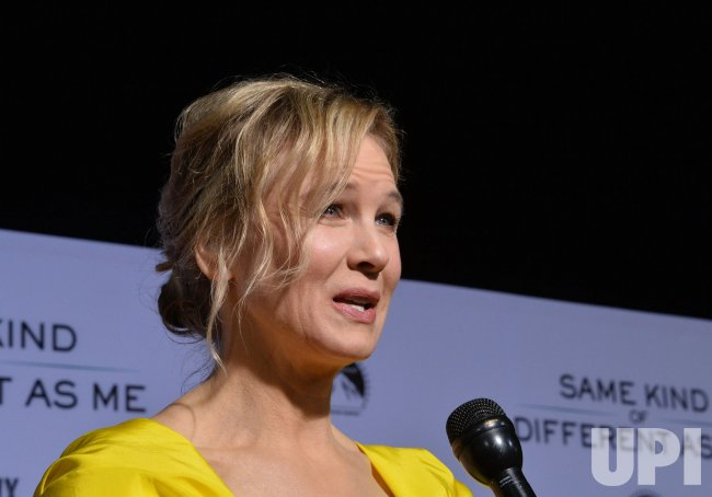 "Renee Zellweger attends the ""Same Kind of Different as Me"" premiere in Los Angeles"