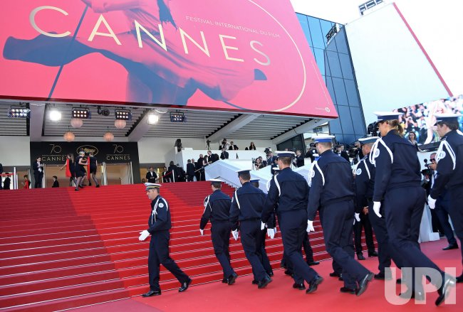 French National Police arrive at the Cannes Film Festival