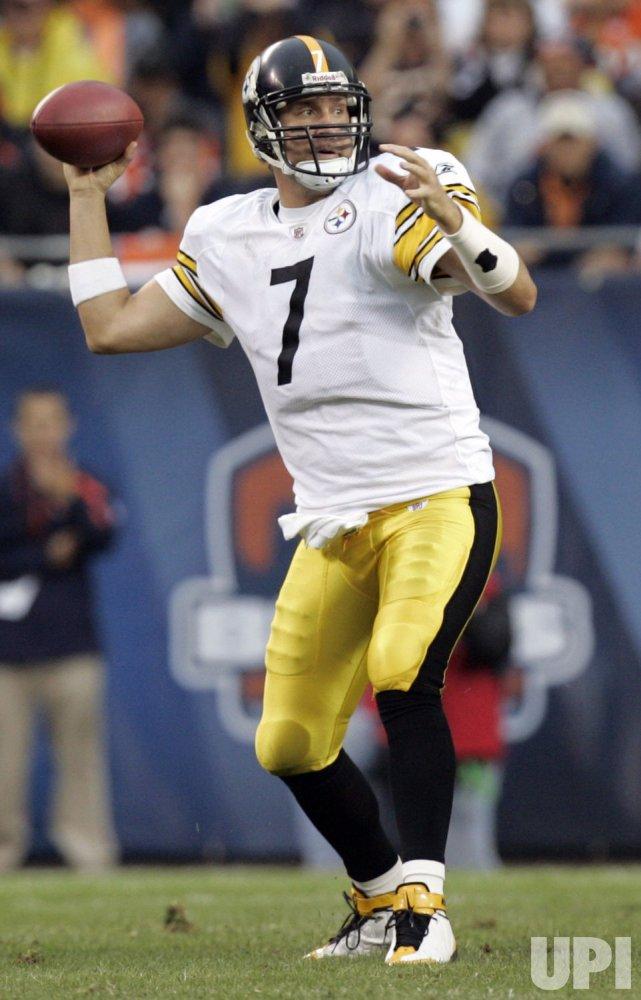 Steelers Roethlisberger Passes Against Bears
