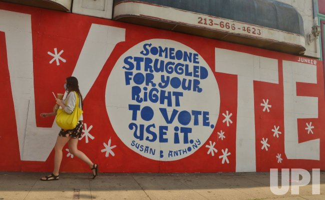 A Mural Urges Registered Voters to Vote in Los Angeles