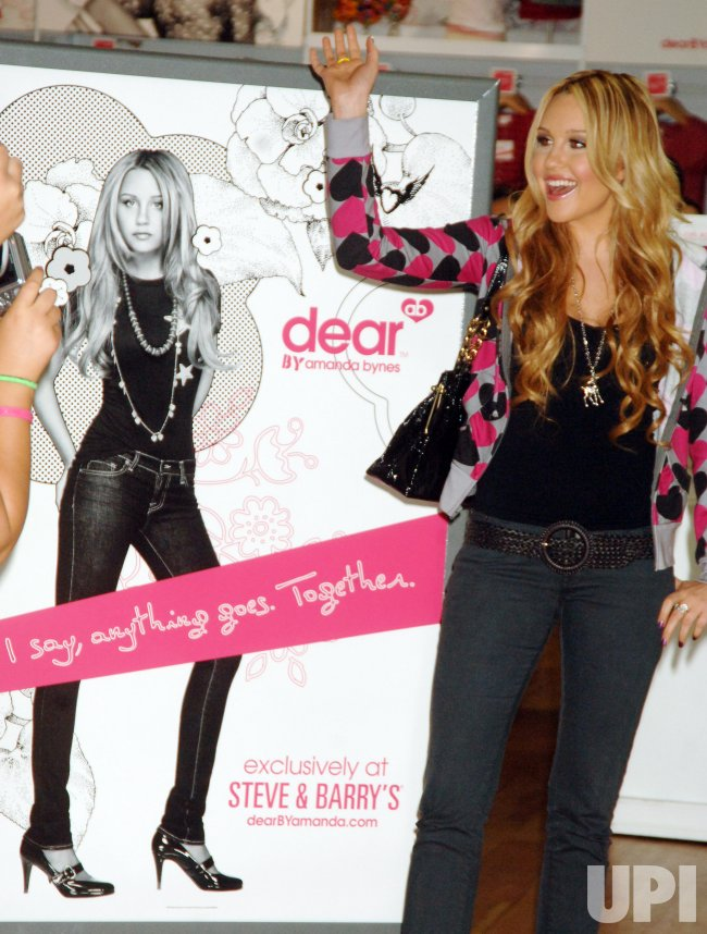 "ACTRESS AMANDA BYNES LAUNCHES HER ""DEAR"" CLOTHING LINE IN NEW YORK"