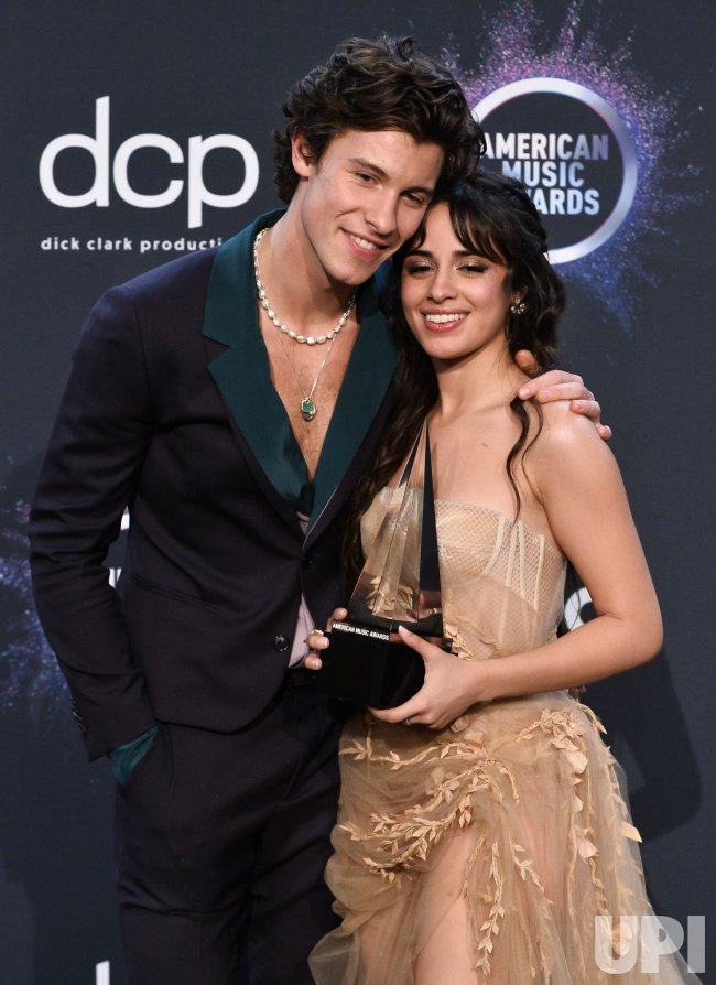 Shawn Mendes and Camila Cabello wins award at American Music Awards in LA