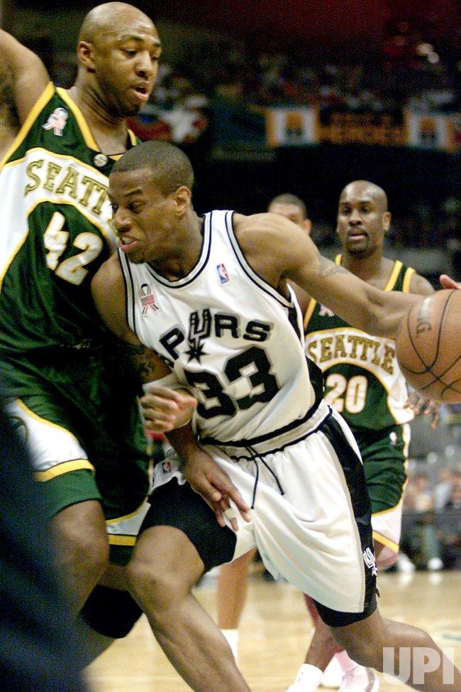 Seattle Supersonics vs. San Antonio Spurs NBA Basketball