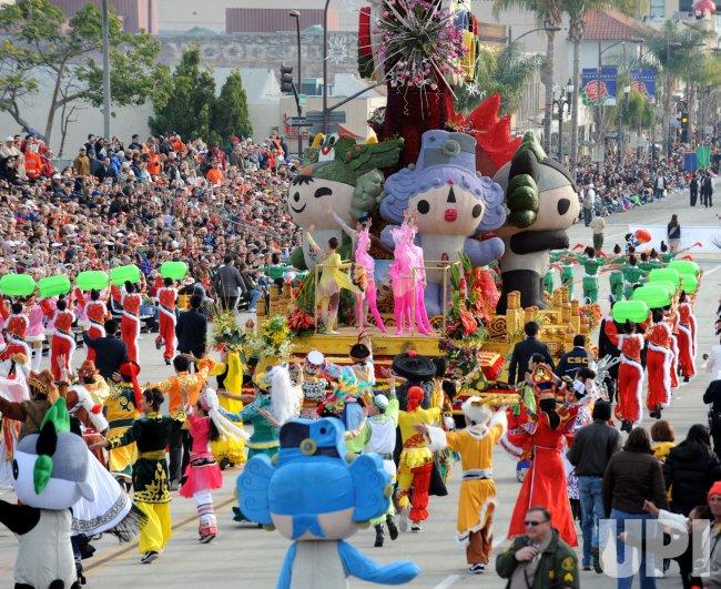 119th annual Rose Parade in Pasadena, California