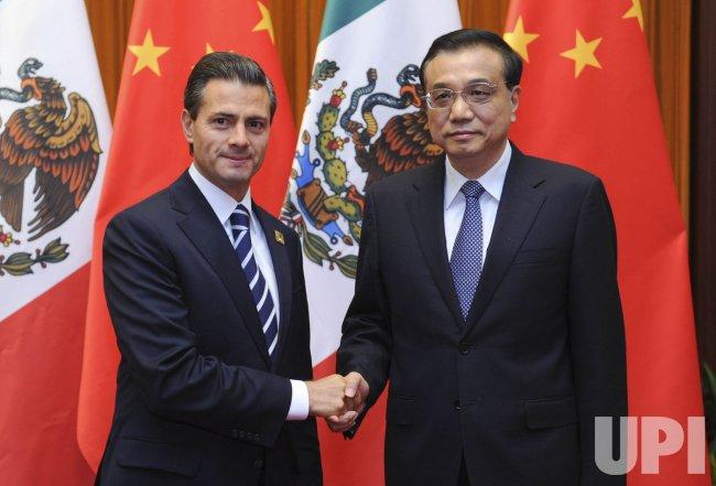 Mexican President holds talks in Beijing