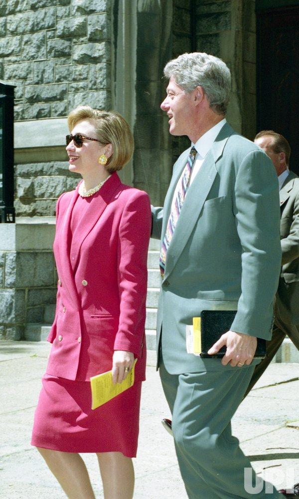 Clintons faces Christian protesters demanding his impeachment