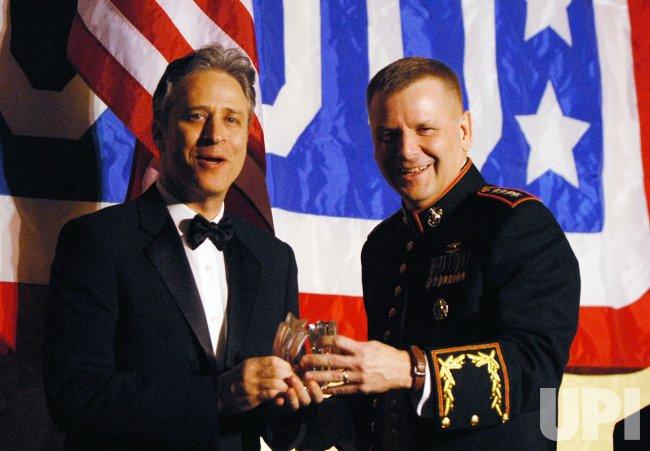 Jon Stewart honored by USO in Arlington, Virginia