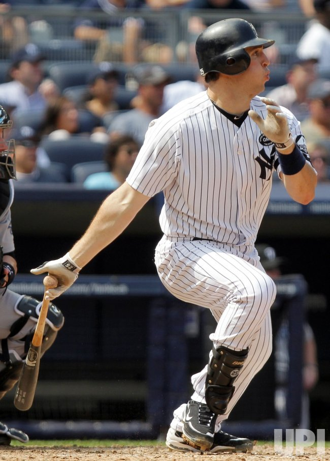 New York Yankees Mark Teixeira drives in 2 runs at Yankee Stadium in New York