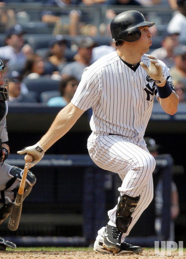 New York Yankees Mark Teixeira drives in 2 runs at Yankee Stadium in New York