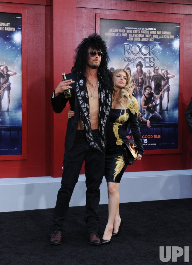 "Josh Duhamel and Fergie attend the ""Rock of Ages"" premiere in Los Angeles"