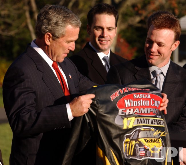 PRESIDENT BUSH CONGRADULATES NASCAR CHAMPIONS