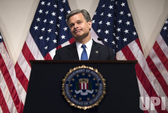 FBI Directo Wray speaks on the IG's Report on the 2016 Presidential Election in Washington, D.C.