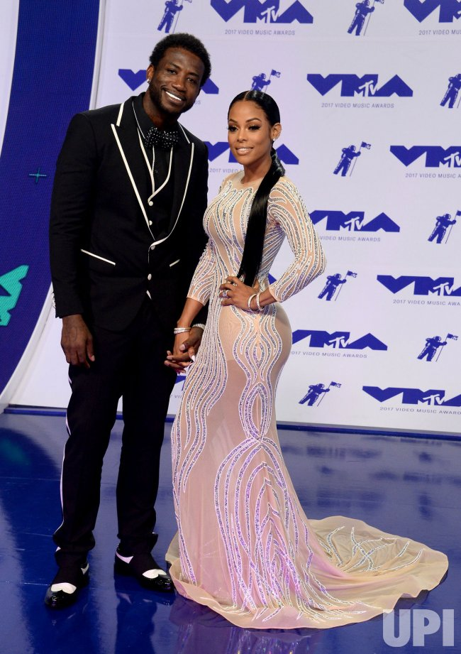 Gucci Mane and Keyshia Ka'Oir attend the 2017 MTV Video Music Awards in Inglewood, California