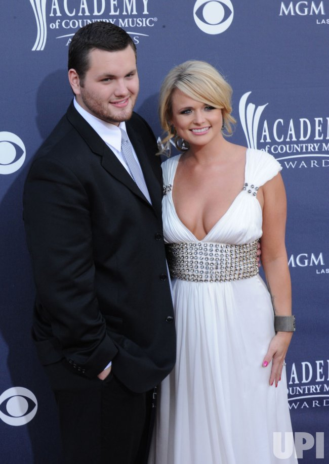 Miranda Lambert and Luke Lambert arrive at the 46th annual Country Music Awards in Las Vegas
