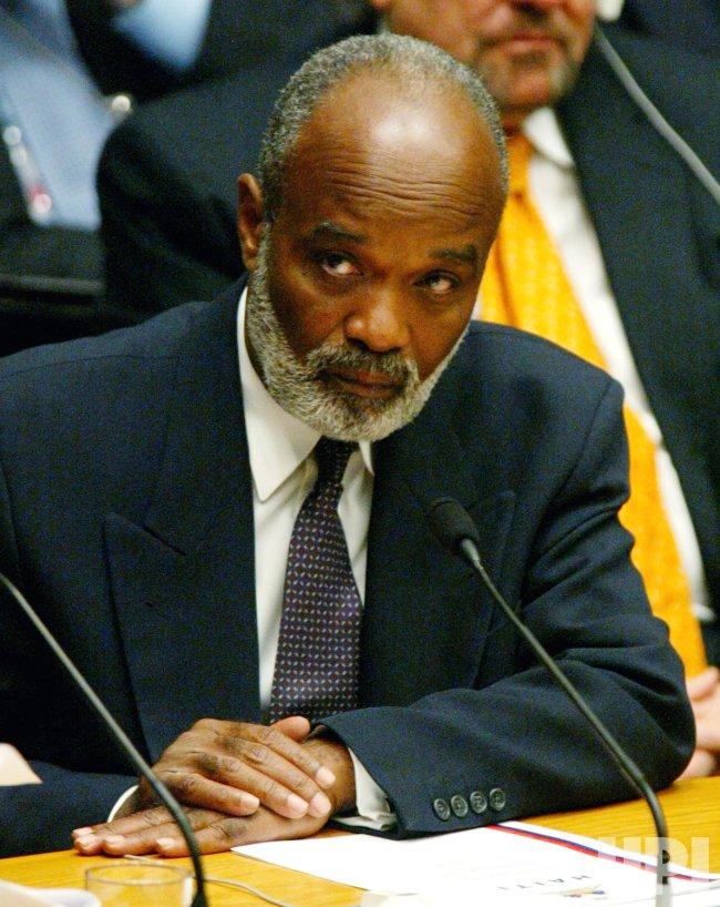 UN SECURITY COUNCIL MEETS HAITI'S PRESIDENT ELECT