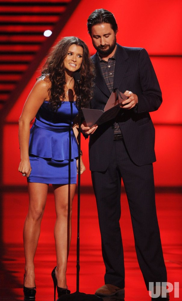 Danica Patrick and Luke Wilson present best male athlete award at the 2010 ESPY Awards in Los Angeles