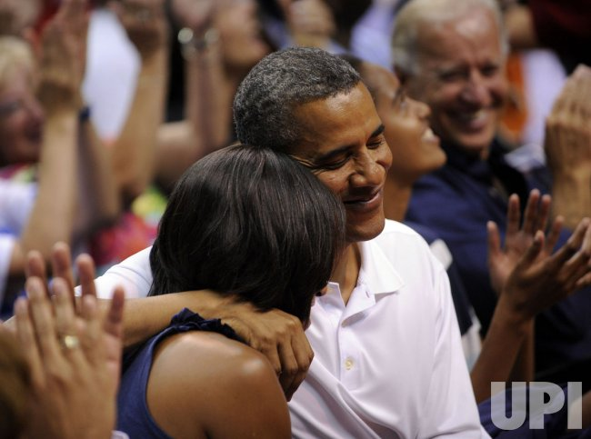 Obama attends US Olympic Basketball Team Games