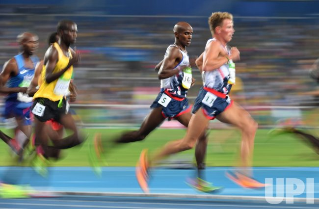Mohamed Farah of Great Britain competes at Rio Olympics