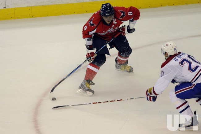 Alex Ovechkin Fires a shot in Washington