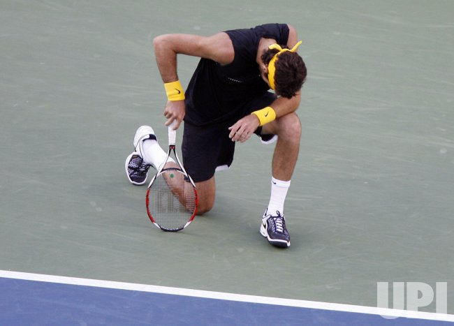 Roger Federer and Juan Martin Del Potro meet in the Men's Singles Final at the US Open Tennis Championships in New York
