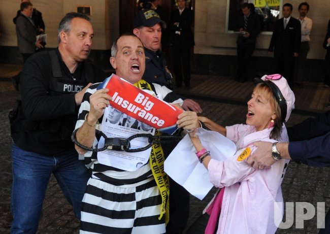 Protesters arrested at health care reform demostration in Washington