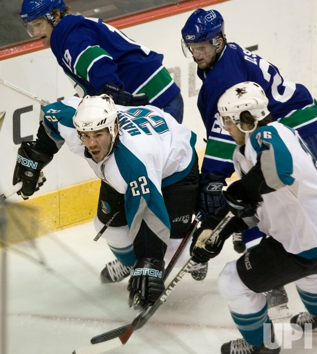 SAN JOSE SHARKS AT VANCOUVER CANUCKS