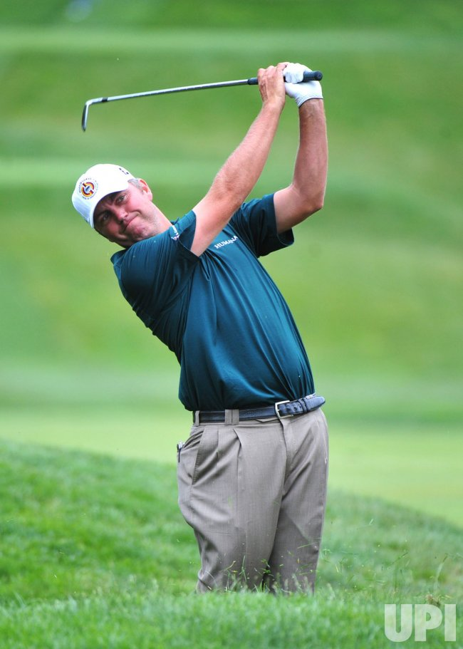 Bo Van Pelt participates in a practice round prior to the U.S. Open in Maryland