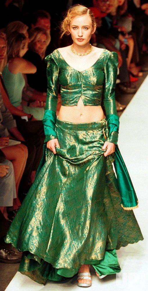 Elizabeth Jagger models Anand Jon