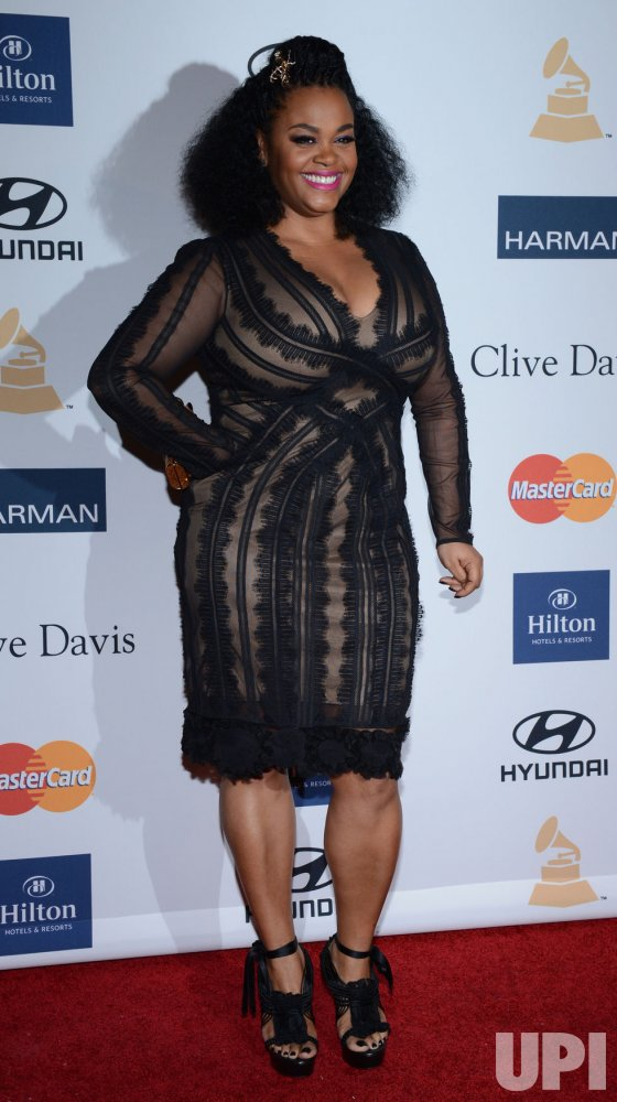Jill Scott attends the Clive Davis pre-Grammy party in Beverly Hills, California