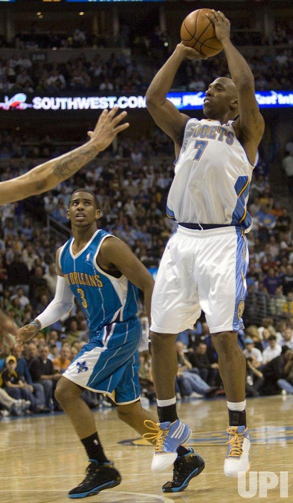 New Orleans Hornets vs Denver Nuggets In Denver