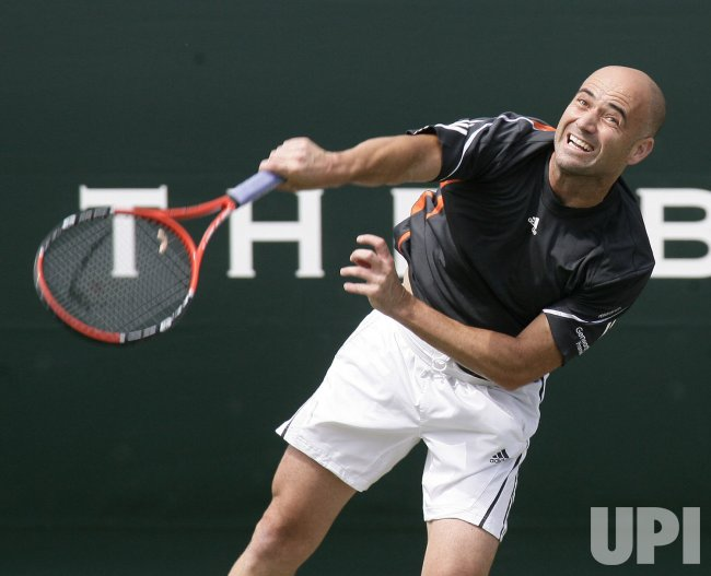 AGASSI IN ACTION