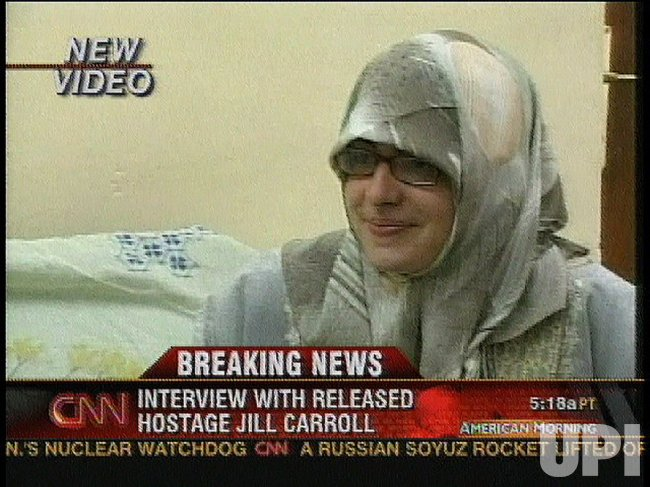 AMERICAN JOURNALIST JILL CARROLL FREED
