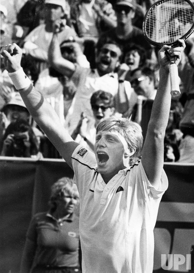 Boris Becker wins over John McEnroe