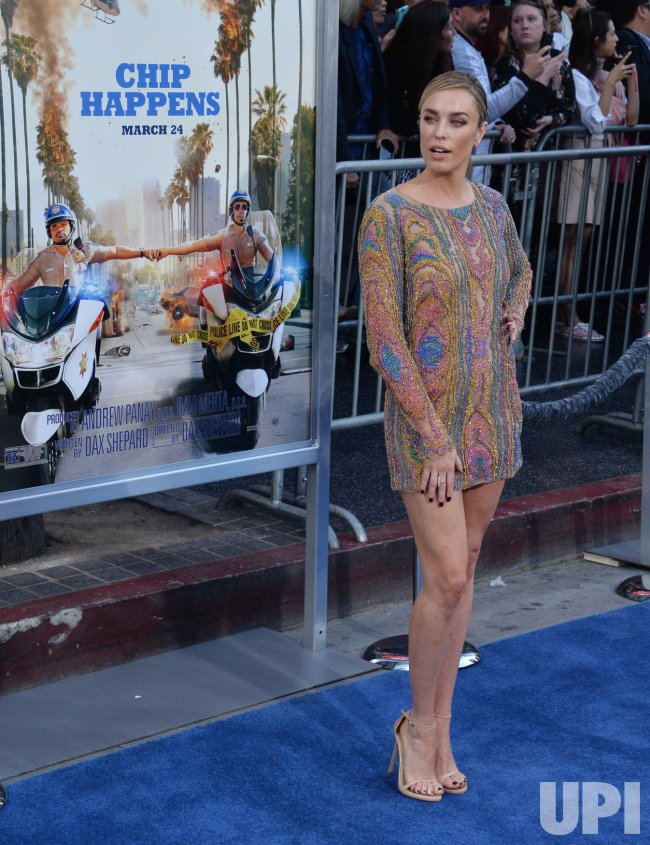 """Jessica McNamee attends the """"CHIPS"""" premiere in Los Angeles"""