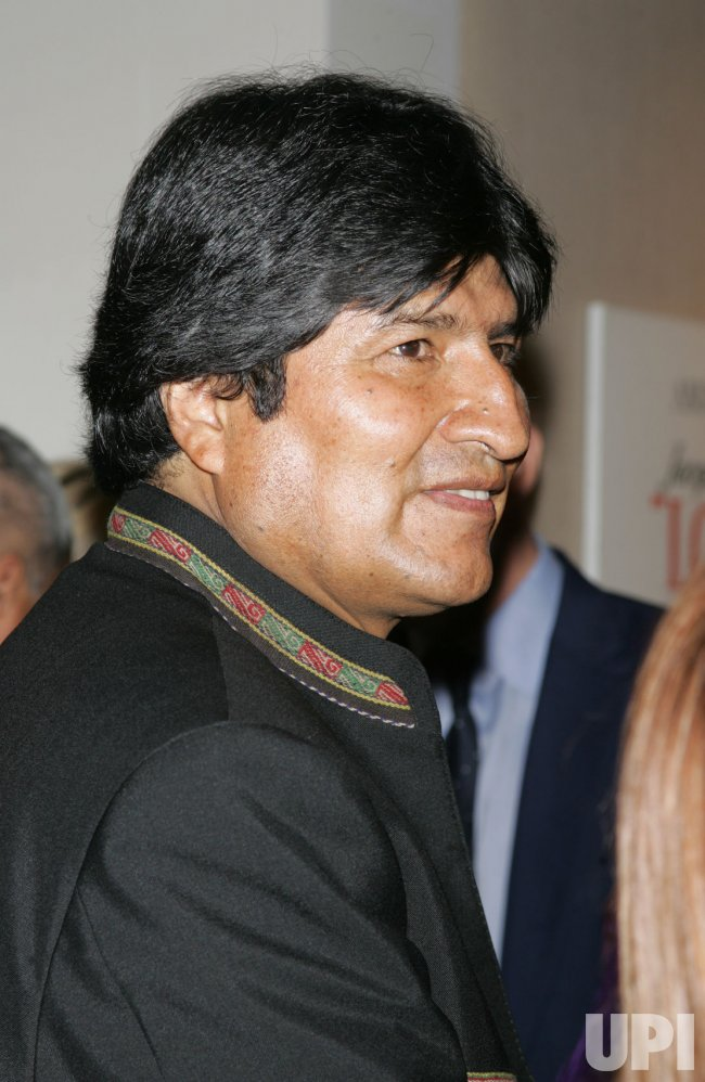 "Evo Morales arrives at the ""South of the Border"" Screening in New York"