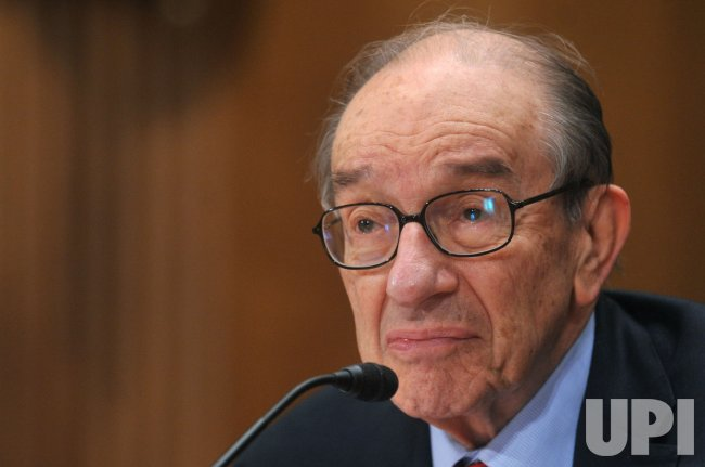 Alan Greenspan testifies in Washington