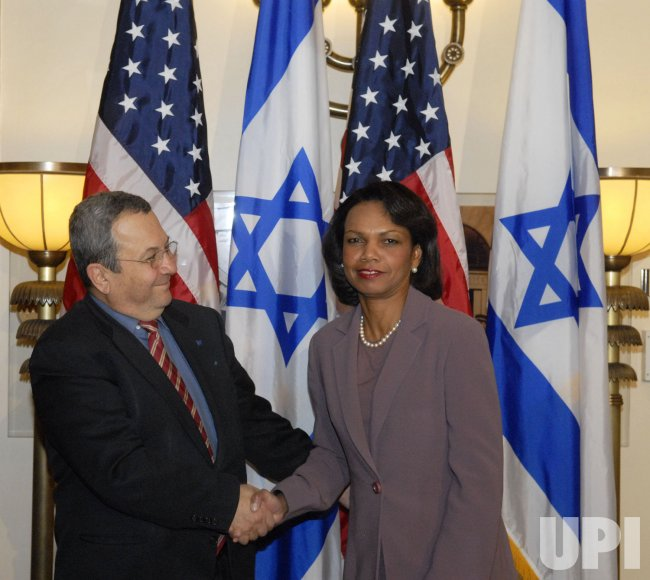 Sec. Rice and Israeli Defense Minister Ehud Barak meet in Jerusalem