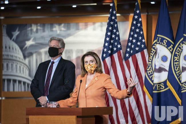 Nancy Pelosi Delivers Her Weekly Press Conference on Capitol Hill