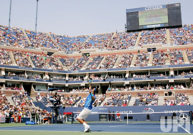 David Nalbandian and Rafael Nadal compete at the U.S. Open in New York