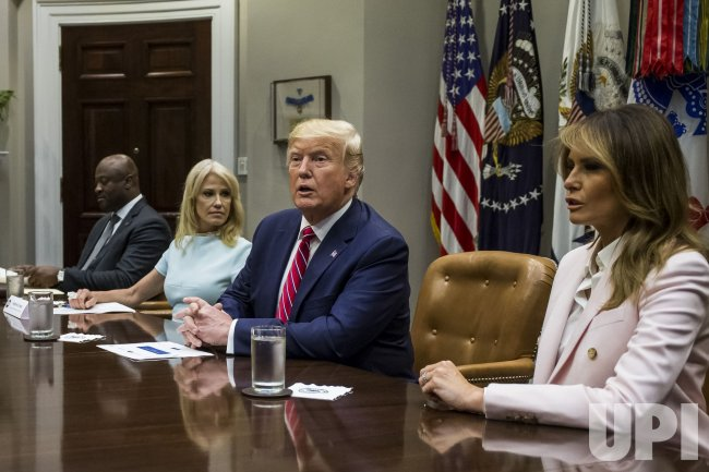 Trump Round Table.President Trump Roundtable On Opiods Upi Com