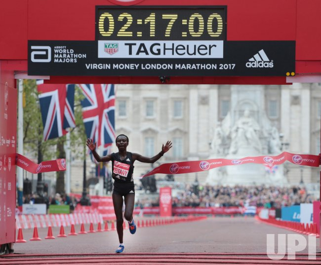Mary Keitany wins the 2017 London Marathon in world record time.