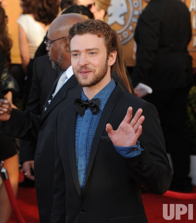 Justin Timberlake arrives at the 16th Screen Actors Guild Awards in Los Angeles