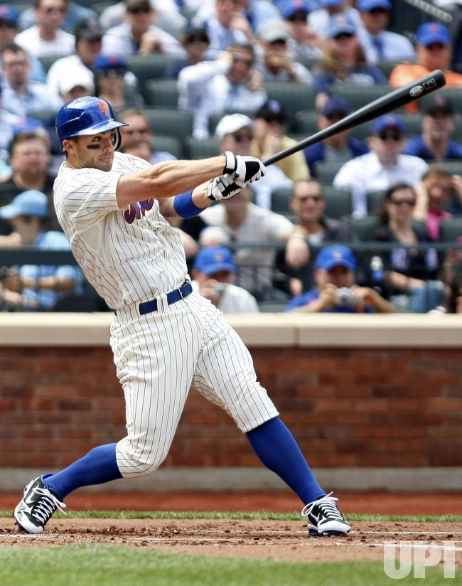 The New York Mets David Wright hits a 2-run homer at Citi Field in New York